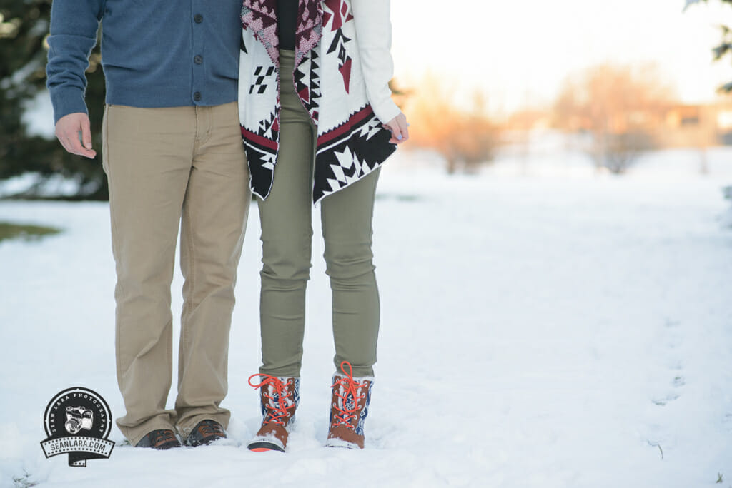 Fort Collins Winter Engagement Photos