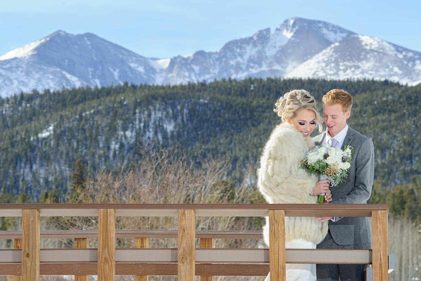 estes park winter wedding