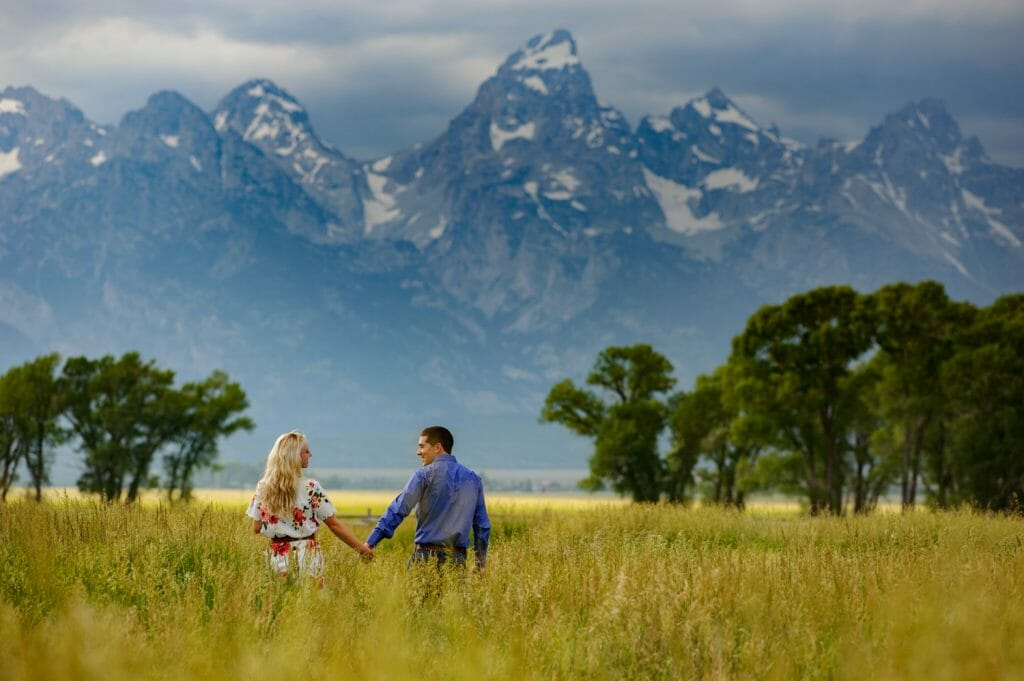 grand tetons engagement photos