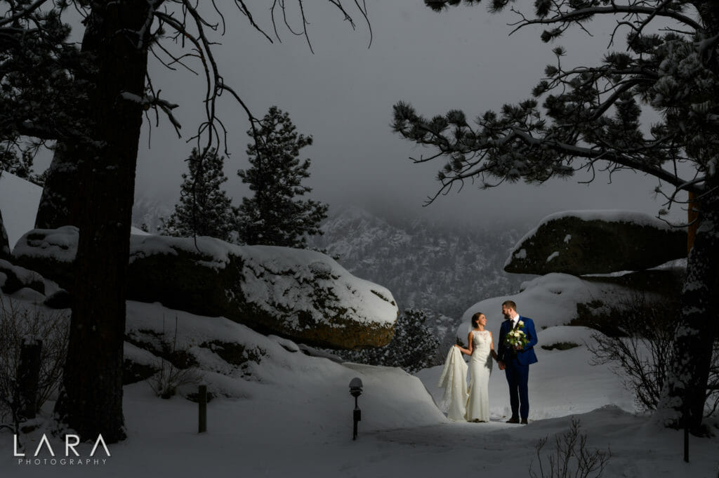 Winter wedding estes park
