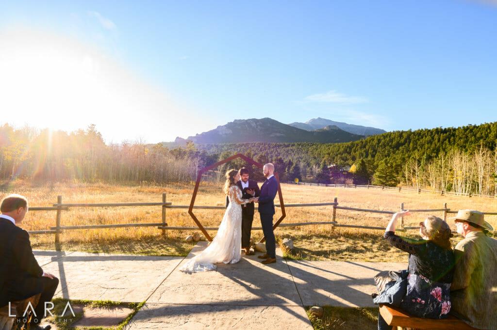 wild basin lodge wedding ceremony site