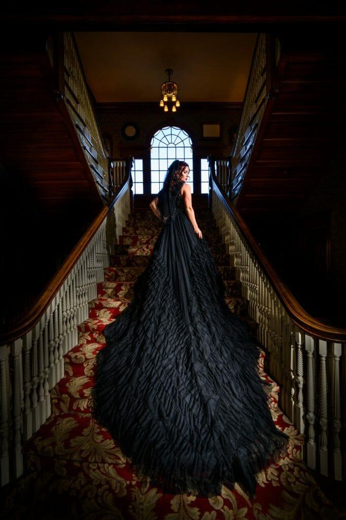 Black Wedding Dress at the Stanley Hotel